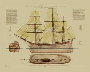 Antique Ship Plan VII