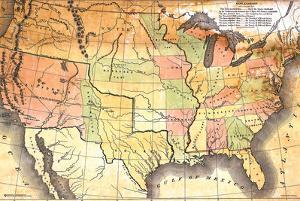Antique USA Map