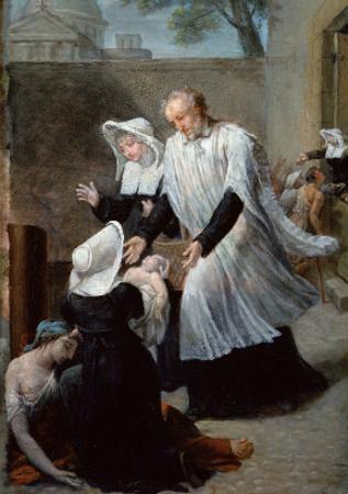 St. Vincent de Paul Helping the Plague-Ridden