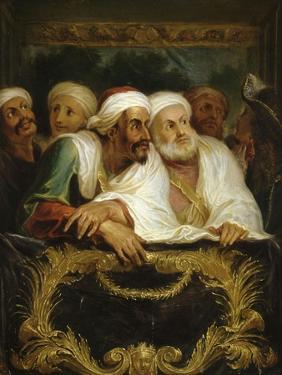 Mohammed Temin, ambassadeur du Sultan du Maroc, assistant à un spectacle dans une loge de la by Antoine Coypel