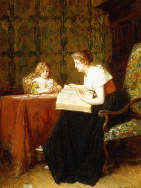 The Evening Hour by Antoine Emile Plassan