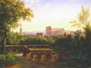 View of the Colosseum from the Orti Farnesiani, 1833 by Antoine Felix Boisselier