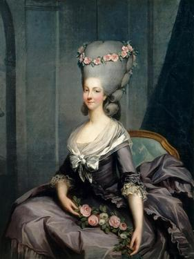 Portrait of Marie Louise of Savoy (1749-179), Princess of Lamballe by Antoine-François Callet