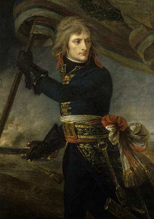 Napoleon Bonaparte on the Bridge of Arcole, Nov. 17, 1796
