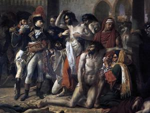 Napoleon Bonaparte Visiting the Plague Stricken of Jaffa, 11th March 1799, 1804 by Antoine-Jean Gros