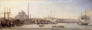 The Golden Horn with The Suleimaniye and The Faith Mosques, Constantinople by Antoine-Leon Morel-Fatio