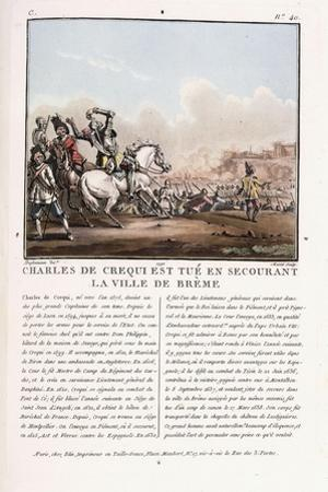Charles De Crequi Is Killed During the Liberation of the Town of Breme, C.1786-1792