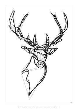 Royal Stag Deer by Antoine Tesquier Tedeschi