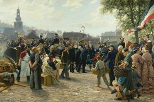 Arrival of King Wilhelm I of Prussia in Saarbrücken on 9 August 1870, 1877 by Anton Alexander von Werner