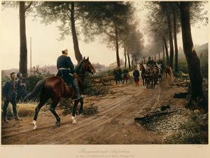 Bismarck and Napoleon Meeting at the Chaussee Von Donchery on the 2nd September 1870 by Anton Alexander von Werner