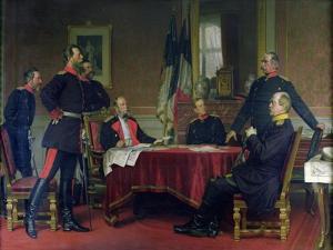 Discussion of a War Strategy in Versailles, 1900 by Anton Alexander von Werner