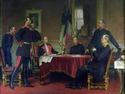 Discussion of a War Strategy in Versailles, 1900