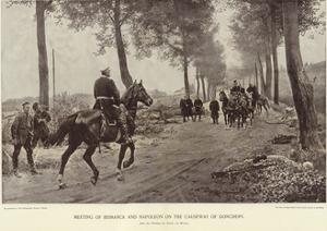 Meeting of Bismarck and Napoleon on the Causeway of Donchery by Anton Alexander von Werner