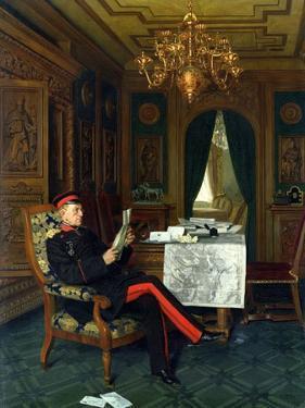 Moltke in Versailles, 1872 by Anton Alexander von Werner
