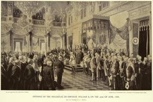 Opening of the Reichstag by Anton Alexander von Werner