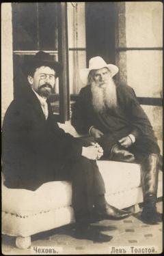 Anton Chekhov Russian Writer with Leo Tolstoy