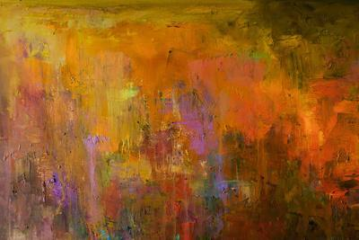 Abstract Oil Painting Background. Oil on Canvas. Hand Drawn Oil Painting.Color Texture. Fragment Of