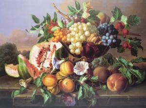 Still Life with Fruit by Anton Hartinger
