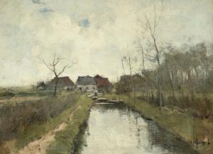 Cottage Near a Ditch, 1870-88 by Anton Mauve