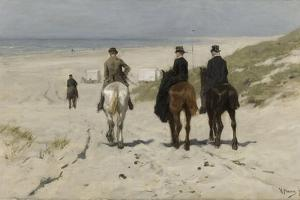Morning Ride Along the Beach, 1876 by Anton Mauve