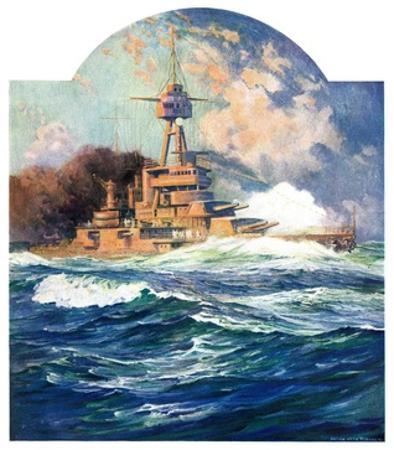 """Battleship at Sea,""April 9, 1932"