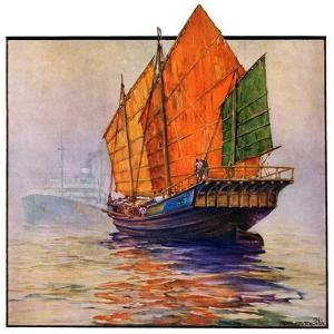 """Chinese Junk,""May 30, 1931 by Anton Otto Fischer"