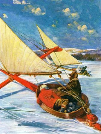 """""""Ice Boating,""""February 1, 1929"""