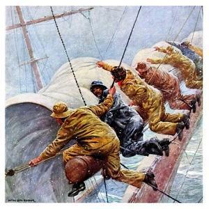 """""""Trim the Sails!,""""March 18, 1933 by Anton Otto Fischer"""