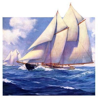 """""""Yachts at Sea,""""May 20, 1933"""