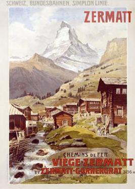 Swiss Alps, Zermatt Matterhorn by Anton Reckziegel