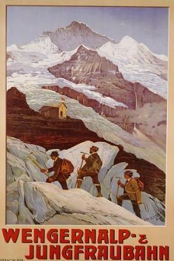 Wengernalp & Jungfraubahn, circa 1900 by Anton Reckziegel