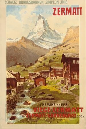 Zermatt, c.1900 by Anton Reckziegel