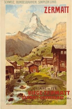 Zermatt, c.1900 by Anton Reckziegel