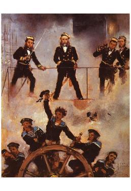 Anton Romako (Tegetthoff admiral in the naval battle at Lissa) Art Poster Print