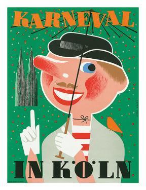 Karneval In Koln: Germany c.1950 by Anton Wolf