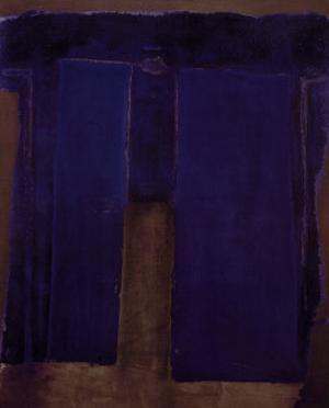 Composition Ultramarine by Antoni Tapies