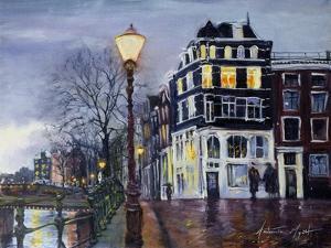 At Dusk, Amsterdam, 1999 by Antonia Myatt