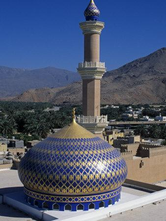 Nizwa Mosque, Nizwa, Oman, One of the Oldest and Most Famous Forts in Oman Is the One at Nizwa
