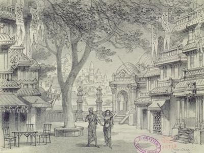 Set Design for Act Ii of the Opera 'Lakme', by Leo Delibes by Antonin Marie Chatiniere