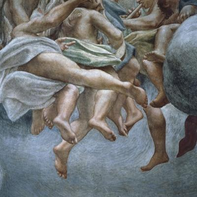 Angels, Detail of Frescoes from Section of Abraham and Isaac, from Dome of Parma Cathedral