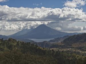 Atitlan Lake and Volcano, Guatemala, Central America by Antonio Busiello