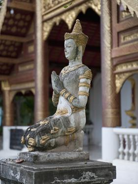 Buddha Statue in Wat Phra Singh, Chiang Mai, Thailand, Southeast Asia, Asia by Antonio Busiello