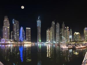 Dubai Marina, Dubai, United Arab Emirates, Middle East by Antonio Busiello