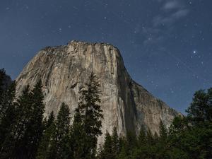 El Capitan and Night Starry Sky, Yosemite Nat'l Park, UNESCO World Heritage Site, California, USA by Antonio Busiello