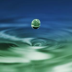 Falling Drop of Water by Antonio Busiello