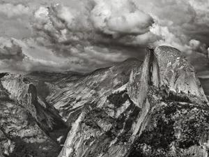 Half Dome under Storm, Yosemite Nat'l Park, UNESCO World Heritage Site, Yosemite, California, USA by Antonio Busiello