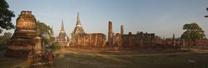 Old Buddhist Temple of Wat Phra Sri Sanphet, Ayutthaya, UNESCO World Heritage Site, Thailand by Antonio Busiello