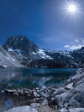 Sun Shining over the Mountains, Sierra Nevada, California, United States of America, North America by Antonio Busiello