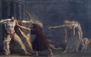 Hercules Firing Arrows at His Children by Antonio Canova