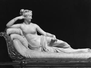 Pauline Bonaparte, Princess Borghese as Venus Triumphant, c.1805-08 by Antonio Canova